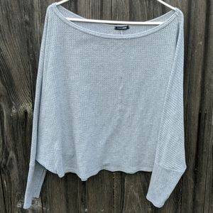 Fashion Nova Oversized Crop Shirt Sweater